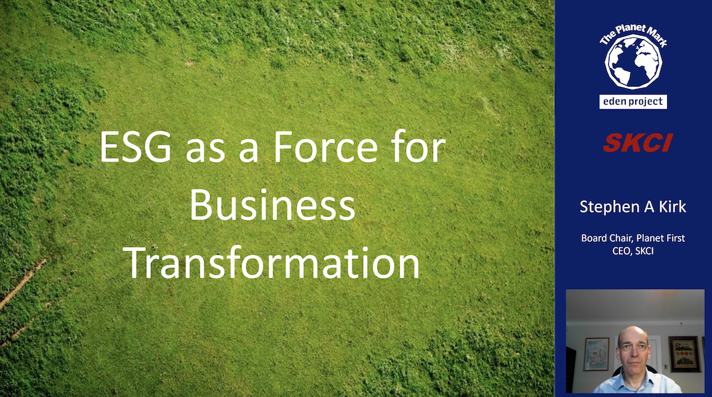 Video: Environmental, Social & Governance and Business Transformation – Part 1